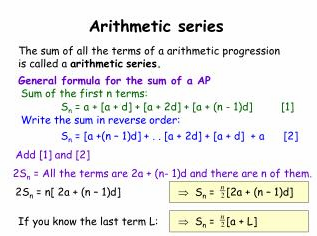 Edexcel c1 specimen paper, arithmetic series model applied to.